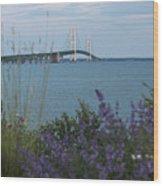 Mackinac Bridge 3 Wood Print
