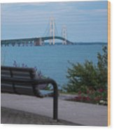 Mackinac Bridge 4 Wood Print