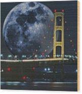 Mackinac Bridge Fantasy Wood Print