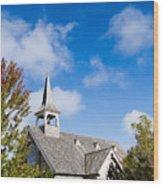 Mackinac Island Church Wood Print