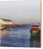Mackinac Island Michigan Ferry Dock Wood Print