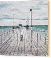 Mackinac Island Michigan Shuttle Pier Pa 02 Wood Print