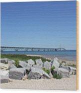 Mackinaw Bridge 2 Wood Print