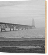 Mackinaw Bridge Wood Print