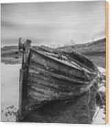 Macnab Bay Old Boat Wood Print