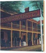 Macomb's Dam Hotel Wood Print