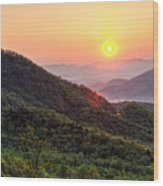 Macon County North Carolina Mountains Wood Print