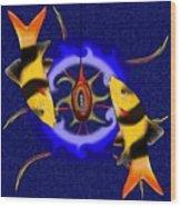 Macrachantis V1 - Colourful Fish Wood Print