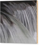 Macro Falls Wood Print