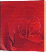 Macro Red Rose Wood Print