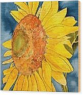 Macro Sunflower Art Wood Print
