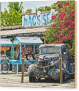 Mac's Sea Garden II On Key West Florida Wood Print