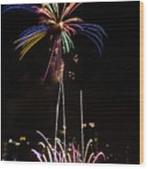 Macy's Fireworks I Wood Print by David Hahn