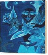 Mad Flower Wood Print