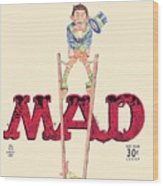 Mad Magazine Cover Wood Print