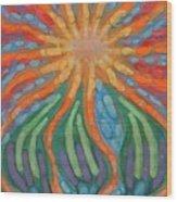 Mad Sun Wood Print