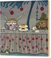 Mad Tea Party Wood Print