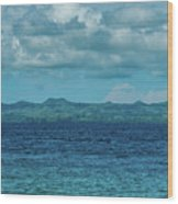 Madagascar, Nosy Be, Small Boat In Sea Wood Print