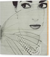 Madam Butterfly - Maria Callas  Wood Print