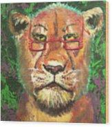 Madam Lion Wood Print