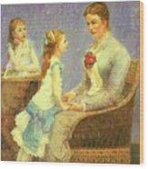Madame Bouchet Et Ses Filles Wood Print