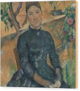 Madame Cezanne In The Conservatory Wood Print