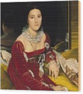 Madame De Senonnes Wood Print by Ingres