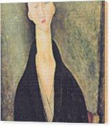 Madame Hanka Zborowska Wood Print by Amedeo Modigliani