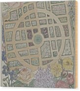 Madame Jumel's Garden Wood Print