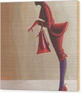 Madame Rouge Wood Print