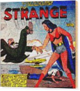 Madame Strange Female Comic Super Hero Wood Print