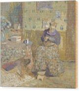 Madame Vuillard Sewing Wood Print