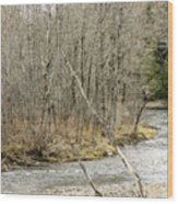 Madawaska Stream Bend Wood Print