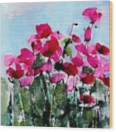Maddy's Poppies Wood Print by Anne Duke