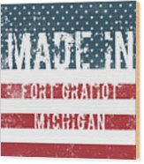 Made In Fort Gratiot, Michigan Wood Print