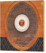 Art Deco Cafe Wall Light Wood Print