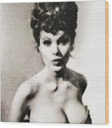 Madeline Smith, Vintage Actress Wood Print