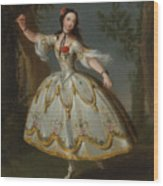 Mademoiselle Violette Dancing Wood Print