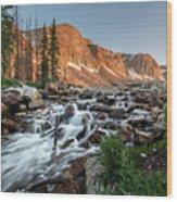 Madicine Bow Waterfall Wood Print