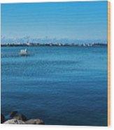 Madison Across Lake Mendota Wood Print