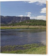 Madison River Valley Wood Print