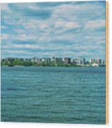Madison Skyline Wood Print