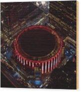 Madison Square Garden Aerial Wood Print