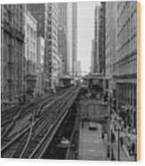 Madison St - Wabash Station - Chicago Loop Wood Print