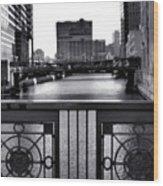 Madison Street Bridge - 3 Wood Print