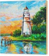 Madisonville Sunset Wood Print