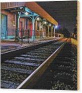 Madisonville Train Depot Wood Print
