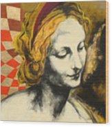 Madona Face Wood Print
