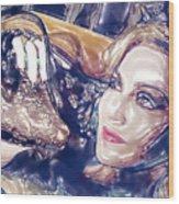 Madona Watercolor Wood Print