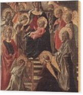 Madonna And Child Enthroned With Saints Fra Filippo Lippi Wood Print